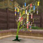 七夕イベントの家具・庭具