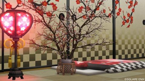 梅柄の家具(春イベント限定家具)